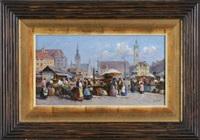 der viktualienmarkt in münchen by detlev nitschke