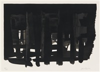 lithographie no. 16 by pierre soulages