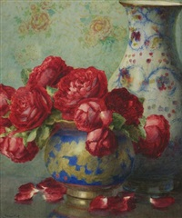 floral still life by isidore rosenstock