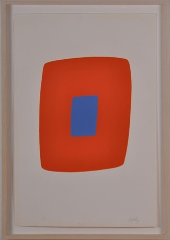 orange with bleu by ellsworth kelly