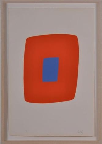 orange with bleu by ellsworth kelly