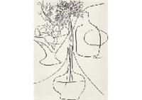 floral vase by setsuko migishi