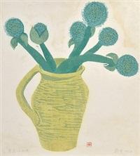 葱花·土陶罐 木刻水印 by zheng shuang