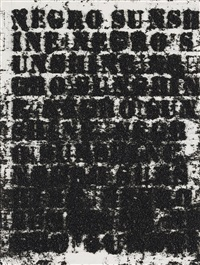 study for negro sunshine #119 by glenn ligon