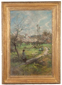 an impression of springtime by william john hennessy