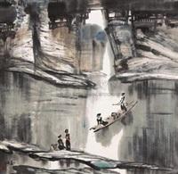 山水人物 by jiang kun