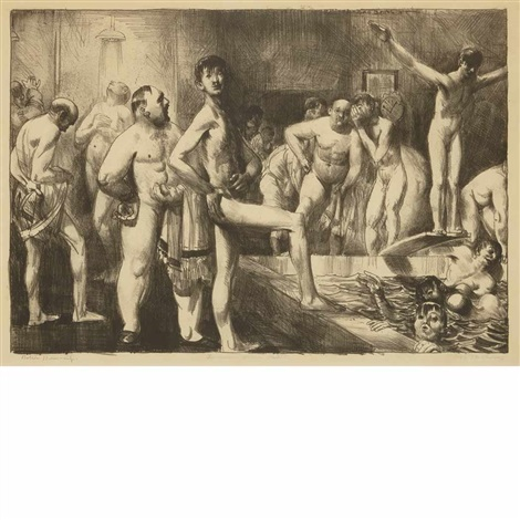 business mens bath by george wesley bellows
