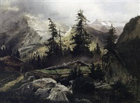 sommertag in den alpen by august hoerter