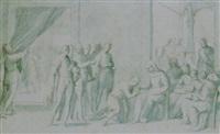 don juan d'austria si presenta ad una nobildonna, accompagnato dalla sua corte by giovanni (il cosci) balducci