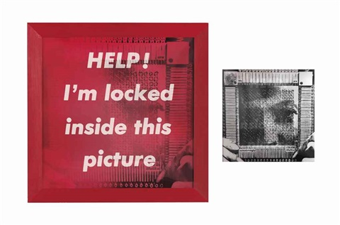 untitled we are astonishingly lifelikehelp im locked inside this picture by barbara kruger