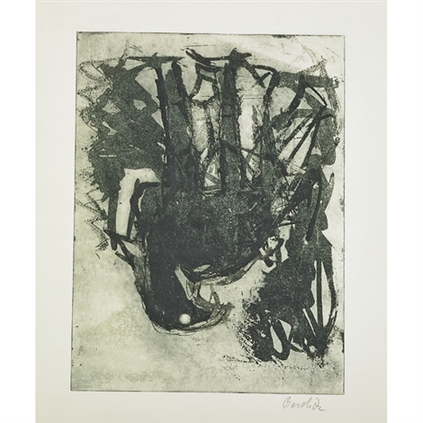 untitled der jäger by georg baselitz