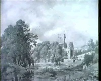 kirkstall abbey, yorkshire by charles davidson