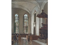 interior of the groote kerk, cape town by robert gwelo goodman
