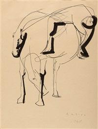 ohne titel (ross und fallender reiter) by marino marini