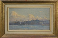 untitled (steamer) by john william (sir) ashton