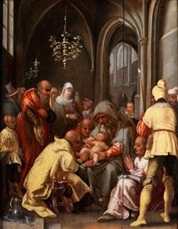 die beschneidung christi, um/ by hendrik goltzius