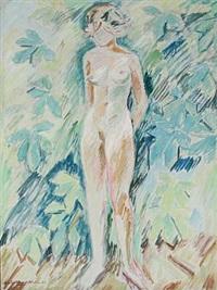 pige i sol under kastanietræet by victor haagen-müller