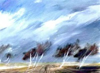 bäume im sturm by siegfried amerstorfer