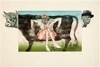 divan-vaca - persecución (la mariposa) (2 works) by carlos alonso
