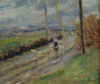 paesaggio con gregge by ulvi liegi (luigi levi)