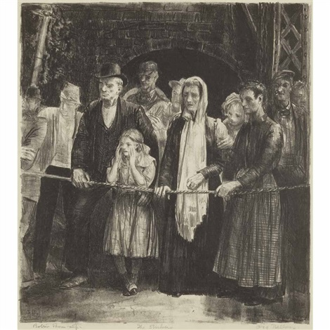 the dead line the strikers by george wesley bellows