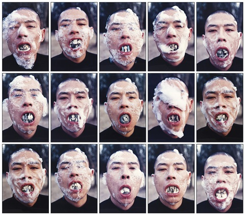foam series 15 works by zhang huan