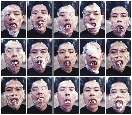 foam series 15 works by zhang huan