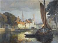 le quai long en octobre by florimond (flori-marie) van acker