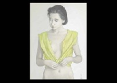 lemon colored blouse by seigo takatsuka