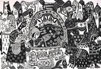 festivités en noir et blanc by fatima hassan el farouj
