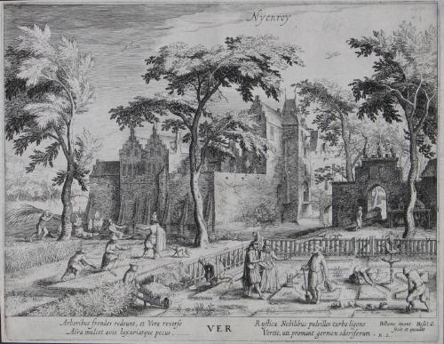 nyenroy ver frühling from jahreszeiten mit ansichten von schlössern aus der umgebung amsterdams after vinkboons by hessel gerrits