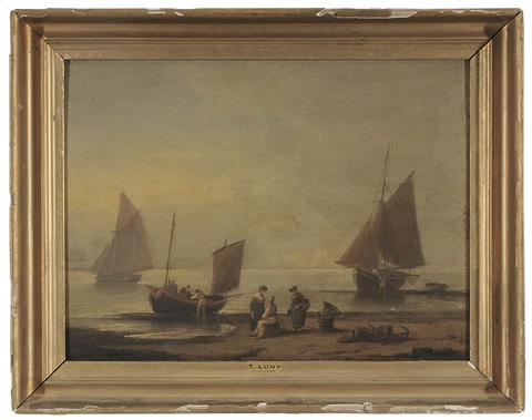fisherfolk on shore by thomas luny