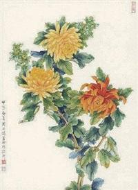 菊花正艳 by zhou yihong