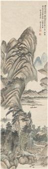 翠岭山居图 by jiang jun