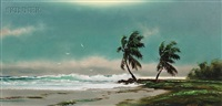 landscape with palm trees/a florida view by harold newton