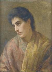 junge dame mit schal by pietro anastasio