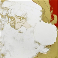 santa claus by andy warhol