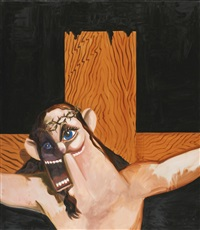jesus on the cross by george condo
