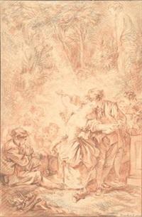 scena galante by françois boucher