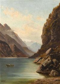 parthie bei odda (norwegen) by gustave adolph amberger