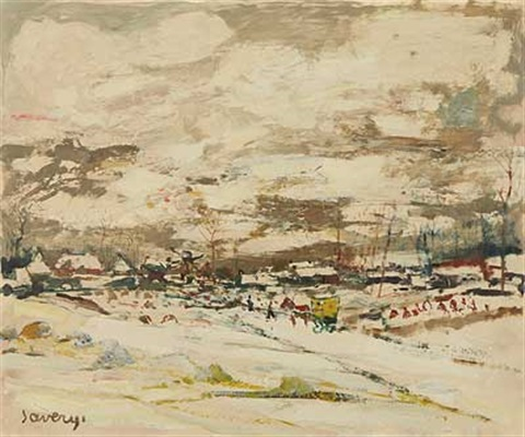 winter über der stadt by albert saverys