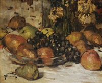 nature morte aux fruits by hermann courtens