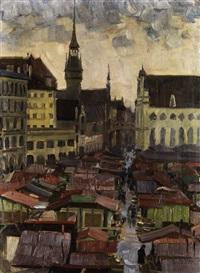 der viktualienmarkt in münchen by charles vetter