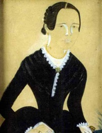 portrait of a young woman with lace trimmed black dress by jane anthony davis