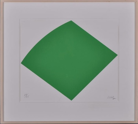 untitled green by ellsworth kelly