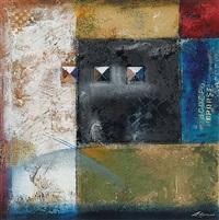 untitled - three horizontal squares by pietro adamo