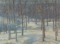 winter landscape (pelhamwood, new york) by leo helmholz junker