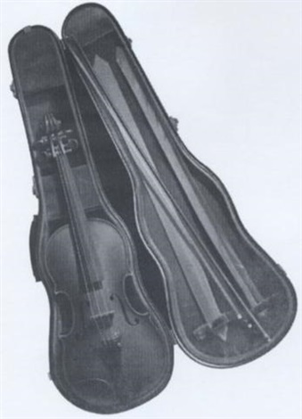 trompe loeil violin by ernest albert land