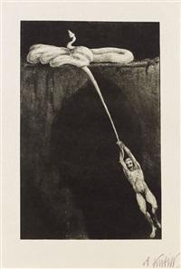 konvolut: vier lithografien by alfred kubin