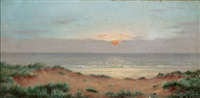 sunset, at the shore by alfred armitage
